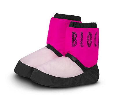 Bloch  Warm Up Boots NWT Two Tone Pink/Hot Pink IM009 Adult S
