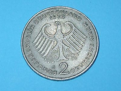 1973 J 2 Deutsche Mark Germany - Collectable World Coin