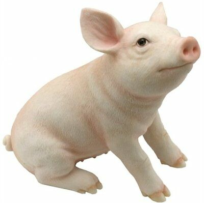 """5"""" Baby Pig Farm Animal Statue Collectible Countryside Figure Figurine"""