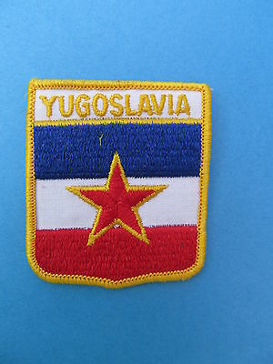 YUGOSLAVIA Shield Patch Jacket Biker Vest Backpack Travel Country Crest