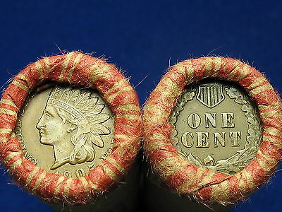 ~ Shotgun Penny Rolls Full Of Indian Head Cents 1859-1909 ~ Free Shipping ~