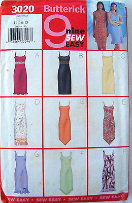 Butterick  x 9 Easy Sew Dresses. Sewing Pattern