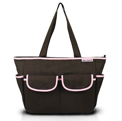Stylish Brown & Pink Fashion Baby Girls Infant Diaper Bag with Changing Pad