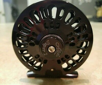 Abel Super 2 Fly Reel...gloss black...preowned