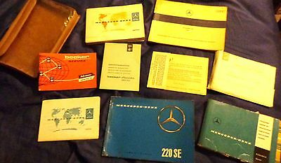 1961 Mercedes Benz 220 SE Owners Manual, Service Manual, Warranties, Pouch, etc