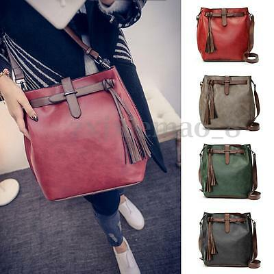 Women Leather Handbag Shoulder Bag Ladies Messenger Satchel Tote Crossbody Purse