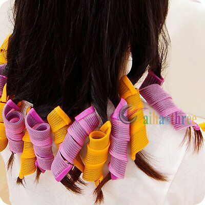 18PCS Magic Hair Curler DIY Leverage Curlers Former Spiral Styling Rollers【AU】