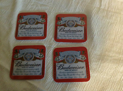 Coasters Budweiser Set Of 4 King Of Beers Coasters Made Of Melamine