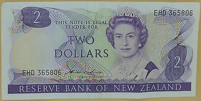 New Zealand Two Dollar Banknote