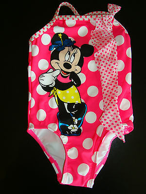 Disney Minnie Mouse  Swim Suit   Nwts Adorable Upf50 Protection
