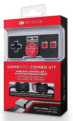 Combo Kit Mando Wireless Para NES Classic + Cable 3m NUEVO MINI
