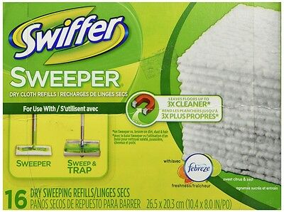 Procter And Gamble Swiffer Sweeper Dry Cloths 16ct 037000318217, New