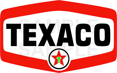 4 Inch Texaco Waterslide Decal Sticker Several Styles Sizes Available T6S