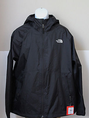 The North Face Men's Boreal Hooded Rain Jacket DryVent Black Size L,XL