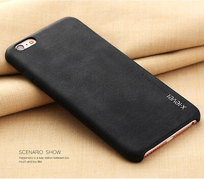 Vintage Ultra-thin PU Leather Hard Back Case Cover For Apple iPhone 7 6 6s Plus