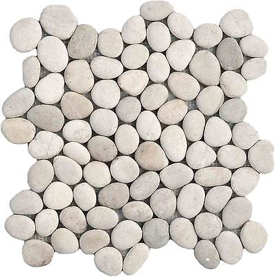 Sample White Pebble Natural Stone wall / floor tiles perfect for shower floors