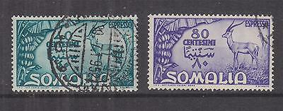 SOMALIA, Express Letter, 1950 Gazelle pair, used.