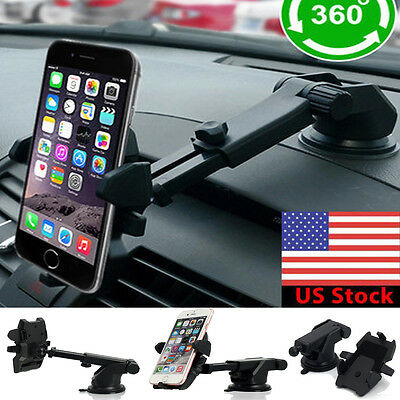 360°Car Windshield Smart Phone Holder Mount for Apple iPhone 7 6s -iPhone 7 Plus