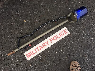 land Rover Wolf Military Magnetic Beacon Aerial Stem & Plate Snatch Wmik