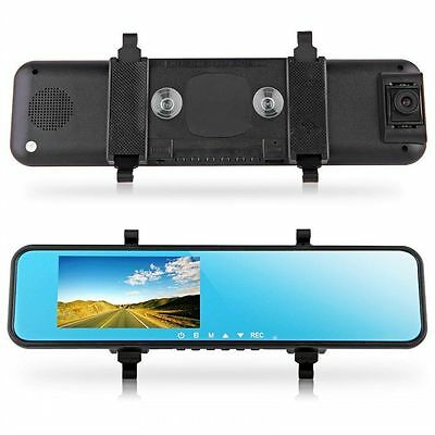 1080P Car DVR Rearview Mirror Monitor Video Recorder with Backup Camera 12.0MP