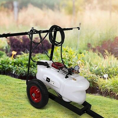 Weed Sprayer 60L Tank With Heavy Duty Trailer & Rear Boom Rustproof & UV stable