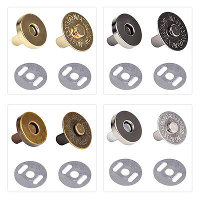 18mm Round Magnetic Snaps Closures Button Clasp Press Studs Bag Purse Craft