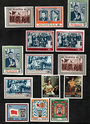 Selection of Cinderella Stamps, Philippines, Sharjah, inc Kennedy Family