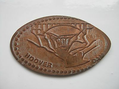Flattened 1 cent souvenir coin from Hoover Dam Nevada