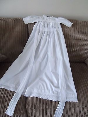 Edwardian White Cotton Christening Dress