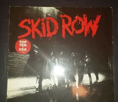 Skid Row Lp Lyric Inner Sleeve 11 Track Album 781 936-1 Atlantic 0 756-81936-1