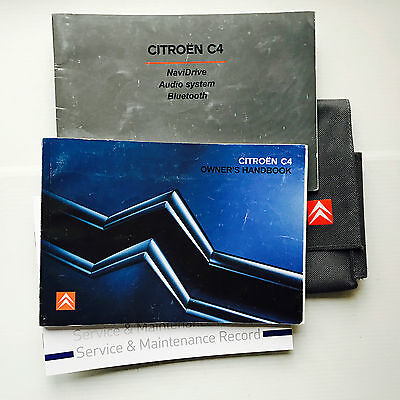 Citroen C4 Handbook Service Book & Wallet Pack  2005 To 2011