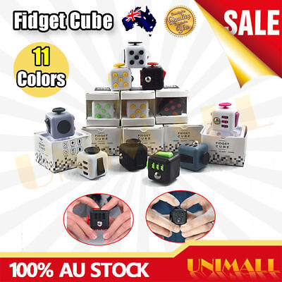Fidget Stress Relief Focus Cube For Adults Children 6+ ADHD&AUTISM Toy Xmas Gift