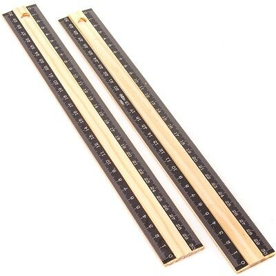 "WOODEN RULERS 30cm/12"" LONG - CLASSIC SET Metric Wood Measure SAME DAY DISPATCH"