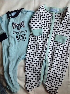 Baby Boys Babygrows 0-3 months Bonjour Bebe clothes