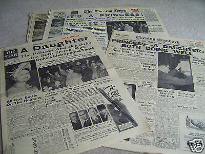 4 15th August 1950 Original UK newspapers, Birth of Princess Anne