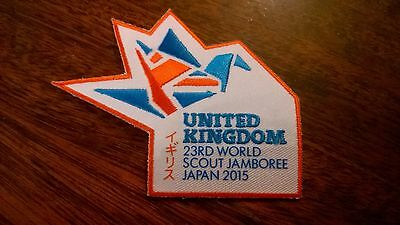 23rd world scout jamboree 2015 united kingdom badge patch