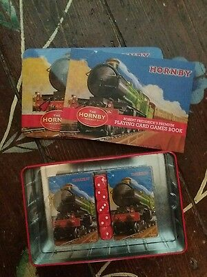 Hornby Playing Card Set. NEW. With book & lovely tin.