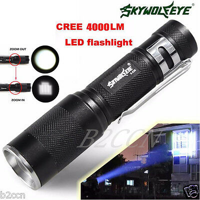 4000 Lumens Zoomable CREE XM-L Q5 LED Flashlight 3 Mode Torch Light Lamp G