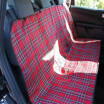 Car seat pet protector dog cover water resistant proof rear boot liner tartan