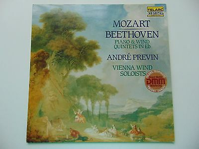 Telarc Stereo LP Mozart / Beethoven Piano & Wind Quintets Previn NEAR MINT