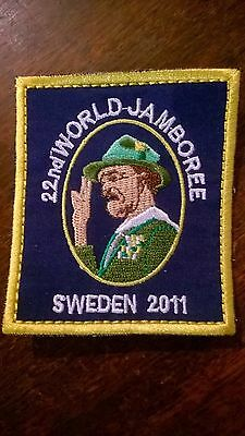 22nd world scout jamboree sweden 2011 baden powell badge patch collectable