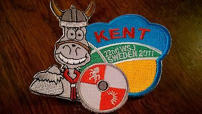 22nd world scout jamboree 2011 kent uk contingent badge patch collectable