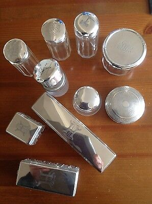 Antique.. VINTAGE Solid  SILVER  and Glass - Halmarked