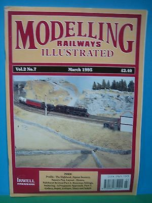 MODELLING RAILWAYS ILLUSTRATED ~ Vol 2 No 7 - MARCH 1995   EXCELLENT SEE PIC'S