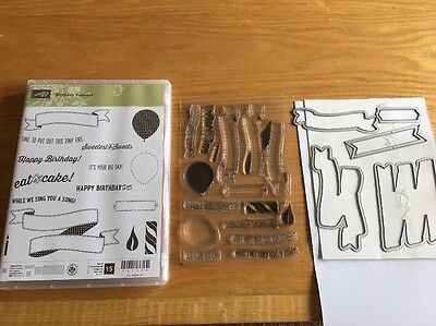 Stampin Up Birthday Banners Stamp Set & Bunch Of Banners Framelits