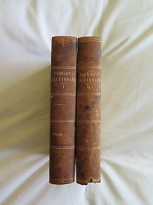 A Dictionary Of The English Language. In Two Volumes. Samuel Johnson. 1783.