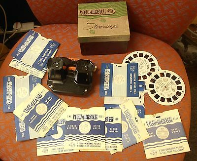Sawyers Bakelite  Viewmaster Stereoscope, boxed and 17 sildes.