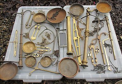 Antique Brass Scales Parts Chain Pans Bowls Copper Weighting Vintage Old Job lot