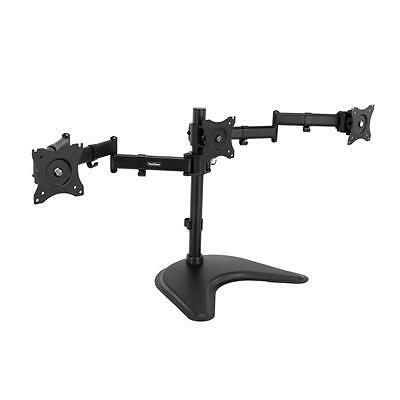 "NEW! Vonhaus Triple Arm Monitor Desk Mound Stand Suitable for 13"" To 27"" Tilt An"