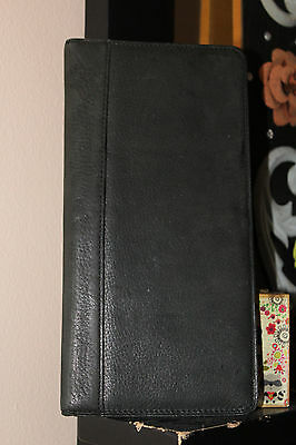 Fossil Executive Black Leather Credit Card Case